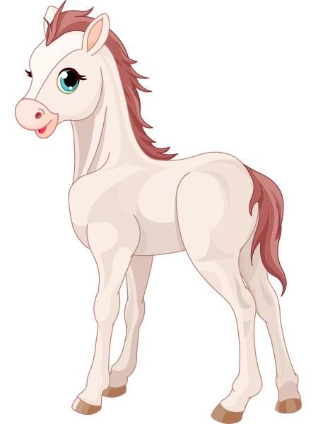 White Horse Horse Cartoon Cute Cartoon Pictures Animal Icon