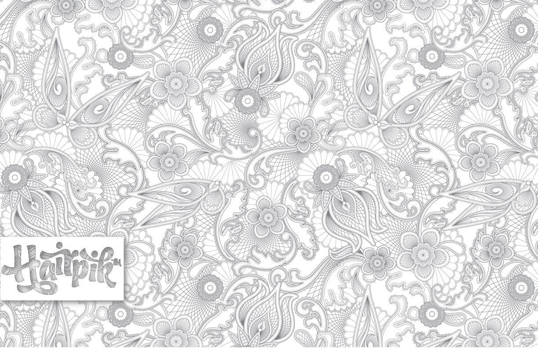 Lace fairy wings print : Hairpik