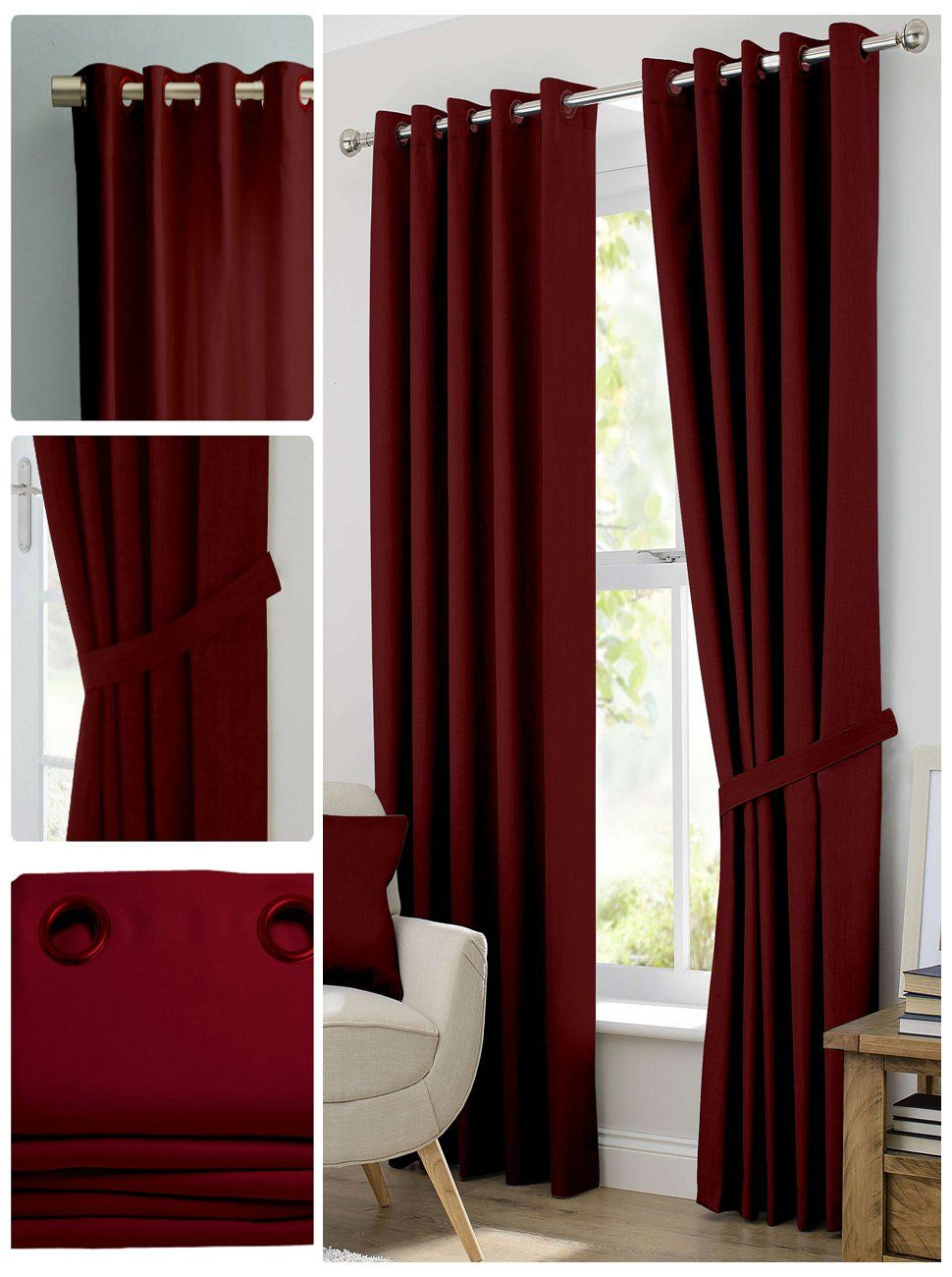 Dark Red Blackout Curtains Amazon Blackout Room Darkening Curtains Window Panel Drapes
