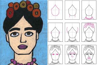 Printables Frida Kahlo Worksheets 1000 images about art with kids on pinterest frida kahlo diego rivera and mermaid coloring
