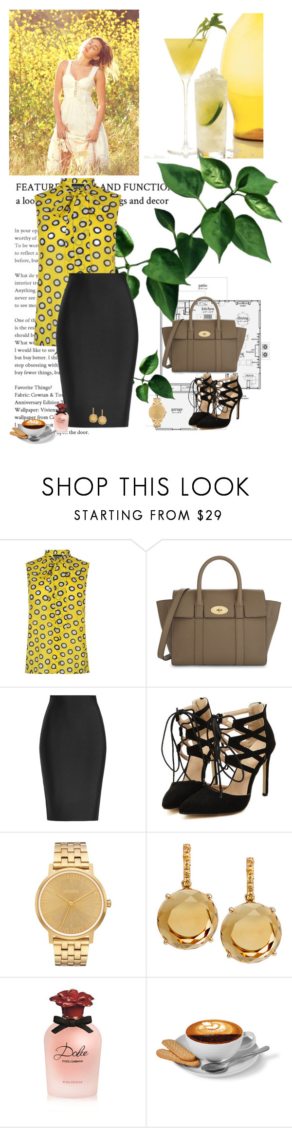 """""""Free"""" by ladyhysteria ❤ liked on Polyvore featuring Boutique Moschino, Mulberry, Roland Mouret, Nixon, Plukka and Dolce&Gabbana"""