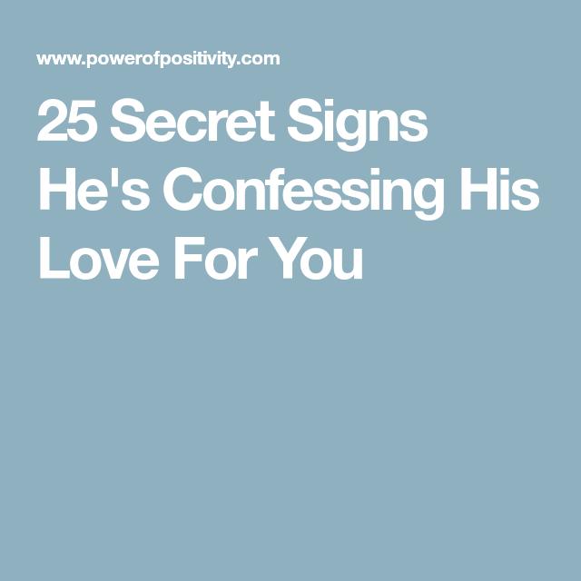 Secret signs he loves you