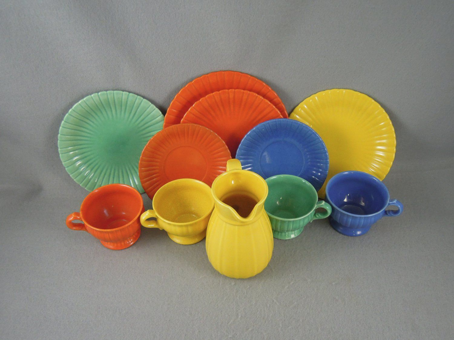 Stangl Pottery Pitcher Cups Plates #1388 & Stangl Pottery Pitcher Cups Plates #1388 | Stangl Art Pottery ...