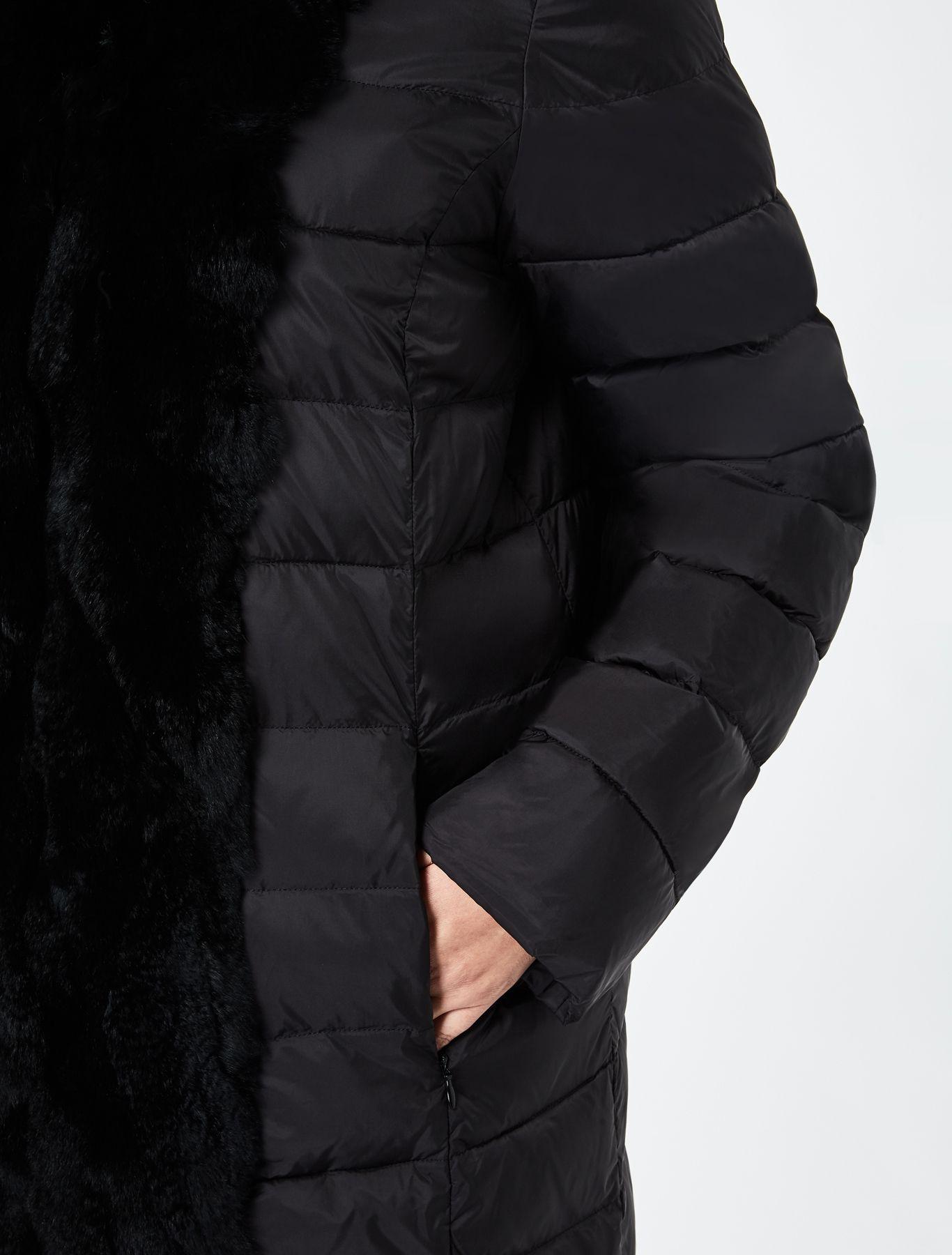Marina Rinaldi PARCO nero: Piumino in nylon satinato e lapin.