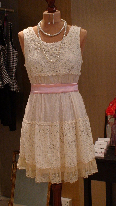 Bridesmaid dresss s vintage inspired lace dress via
