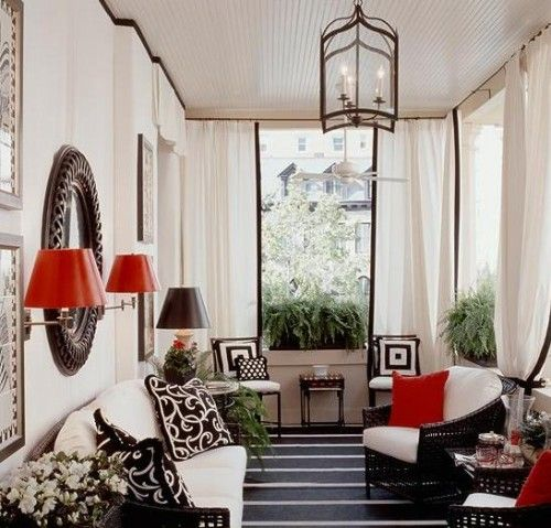 Patio Decor In Black And White To Relax Bright
