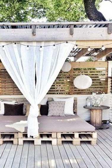 Faire un salon de jardin en palette | Diy terrasse, Garten ...