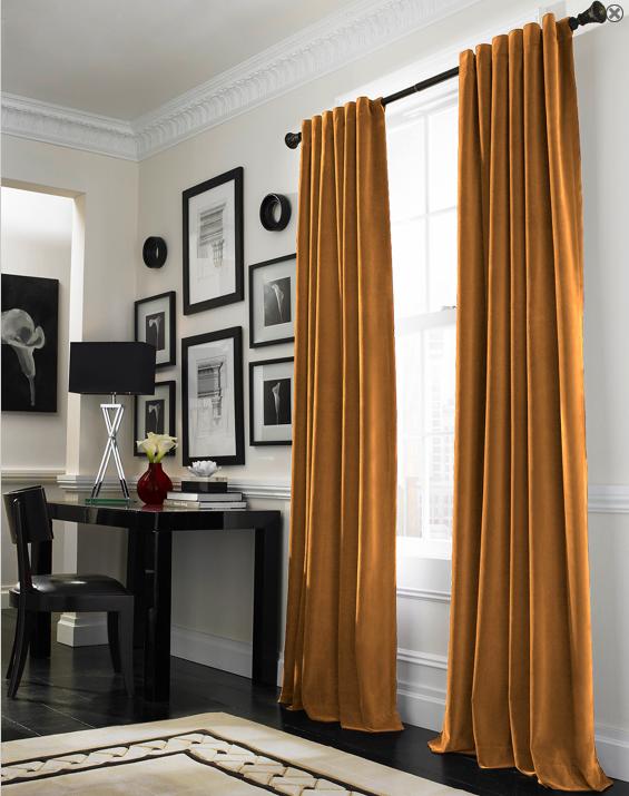 Curtainworks Messina Opulent Velvet Lined Drapery Curtains