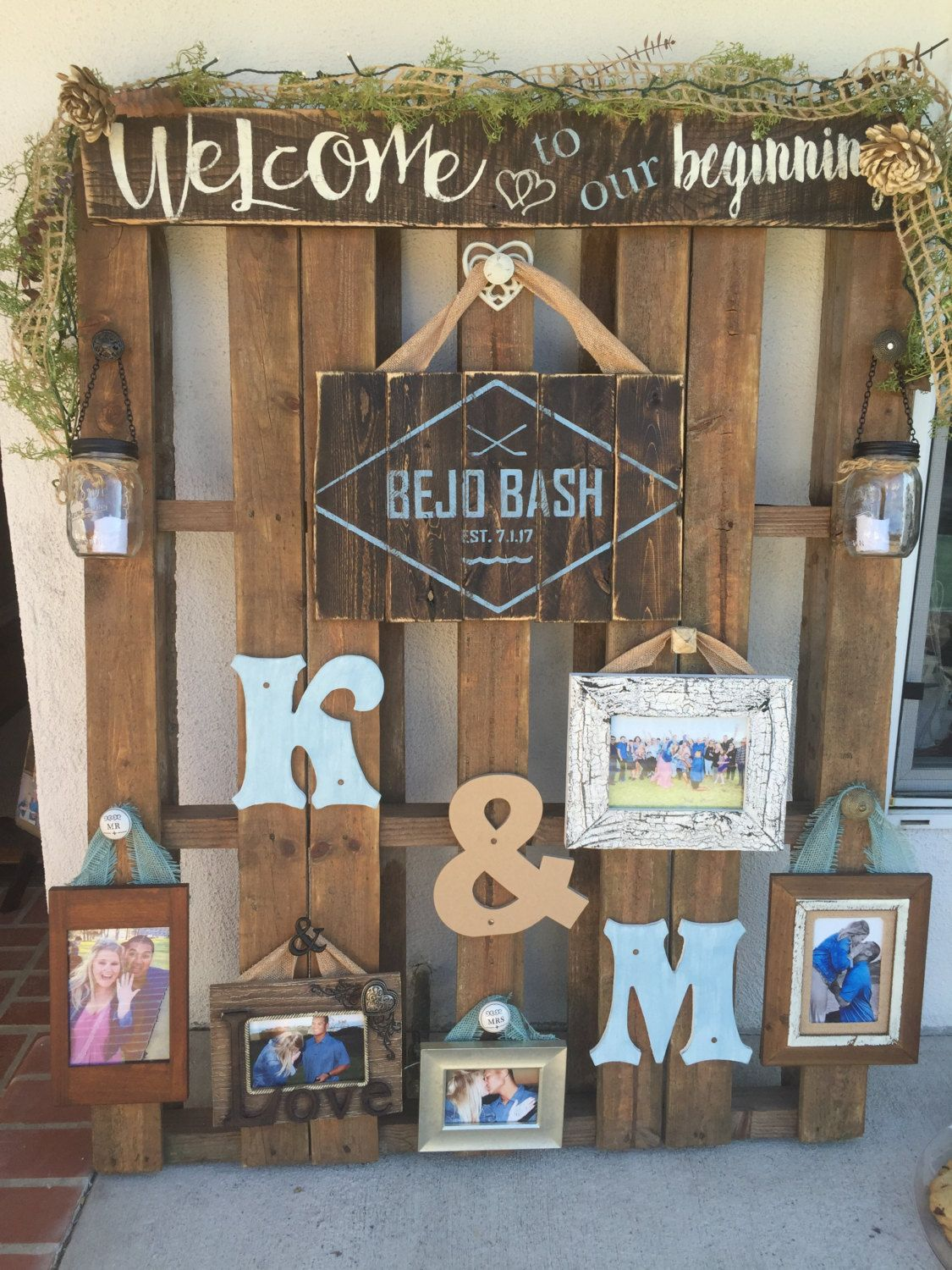 Pallet wedding decor by Sipandsign on Etsy | Wedding Signs ... - photo#10