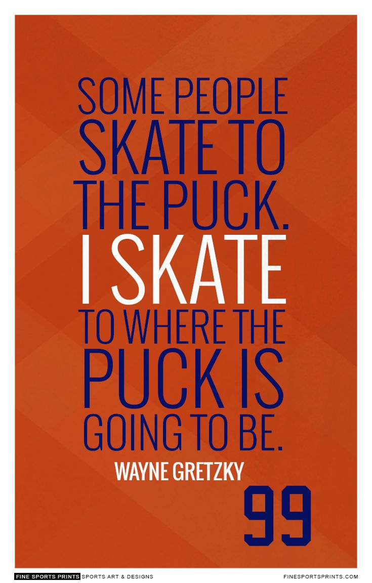 """Wayne Gretzky Quote on Print. See more at www.finesportsprints.com #gretzky #sportsquote #oilers''"