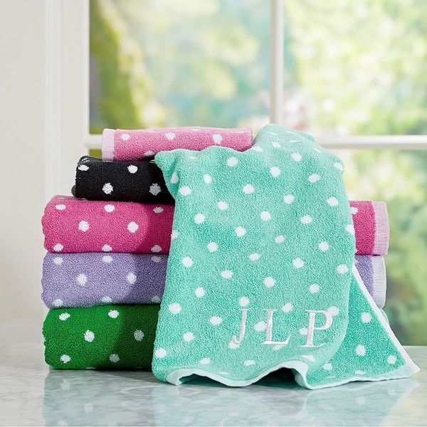 PB Teen Dottie Washcloth, Pool At Pottery Barn Teen   Bath Towels  .