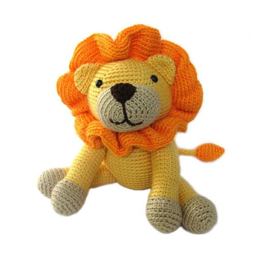 Crocheting a softie and how it differs from sewing one animal kepler the lion stuffed animal crochet pattern dt1010fo
