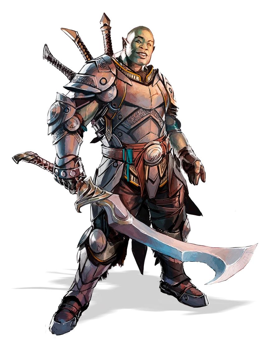 Half-Orc Fighter Warri...