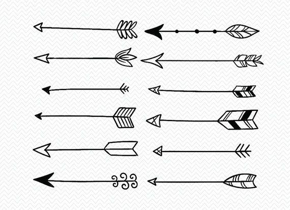 Dibujado A Mano Flechas Svg Svg Archivos Flechas Tribal