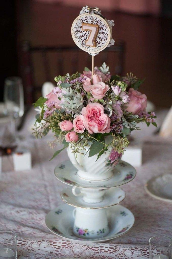 35 Vintage Teapot And Teacup Wedding Ideas Wedding Table Centerpieces Wedding Table Flowers Wedding Table