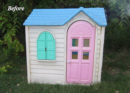 Before & After: A Little Tikes House Gets a Paint Job