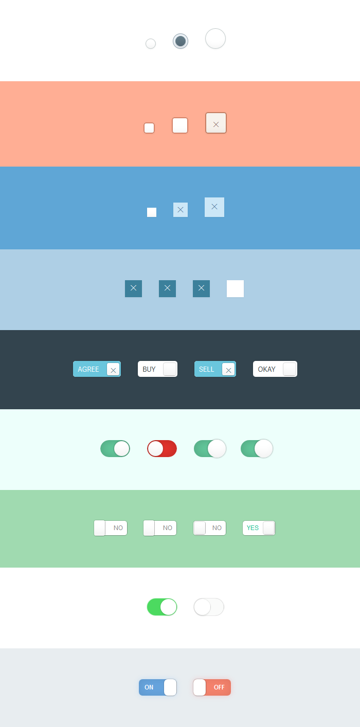 A Bunch of CSS Only Custom Checkboxes, #Checkbox, #Code, #CSS ...