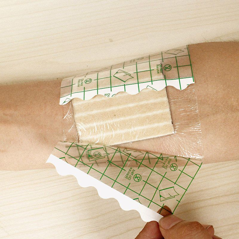 100 Pcs 1010cm Waterproof Transparent Tape PU film Medical