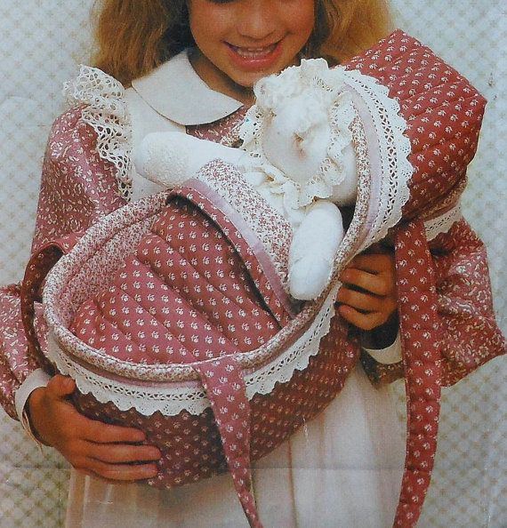 Doll and Doll Carrier Sewing Pattern UNCUT Vogue 8473 | Doll carrier ...