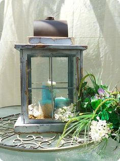 Window Pane Lanterns made from Dollar Store Picture Frames!... I see a lot of candle crafts, for outdoors, and they won't work well in this windy desert, but I like these, a lot.