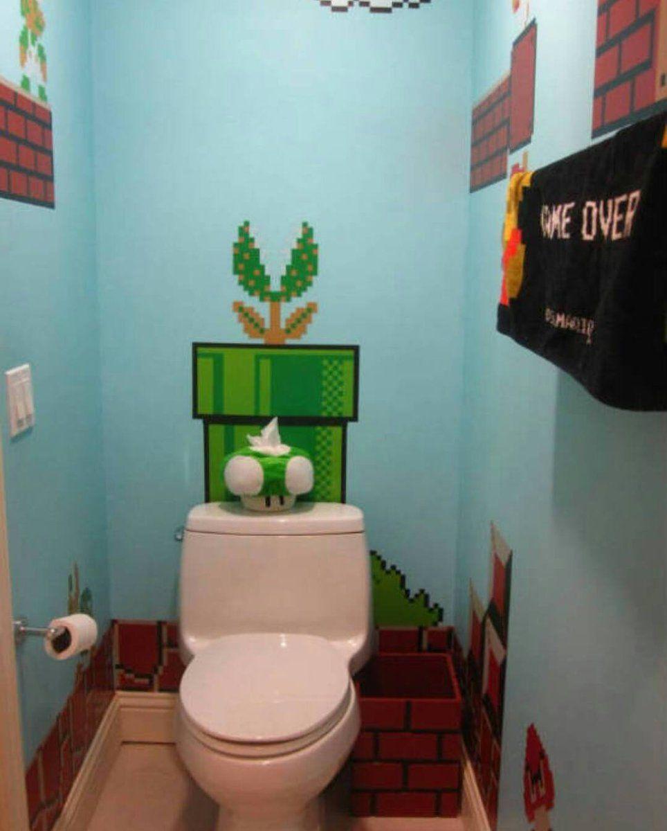 The best Bathroom for the Best Gamer!! #nintendo #ninstagram #nintendolife