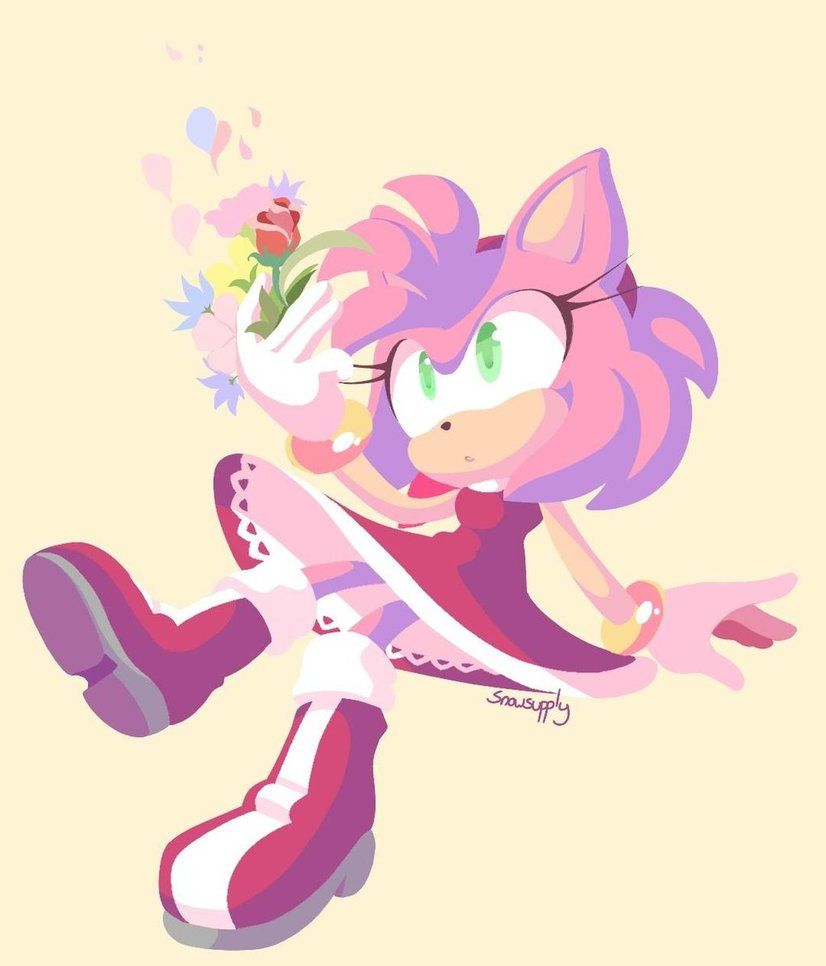 Flowers By Snowsupply Deviantart Com On Deviantart Amy Rose Amy The Hedgehog Sonic And Amy