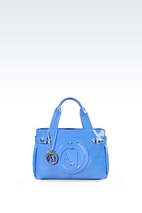370ae9de2c4e Armani Jeans Women Top Handle - MINI SHOPPING BAG IN PATENT FAUX LEATHER  WITH PENDANT Armani