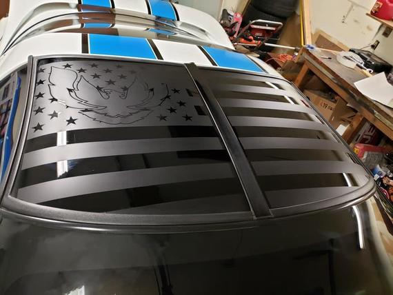 """Corvette with Flag Decal 4/"""""""