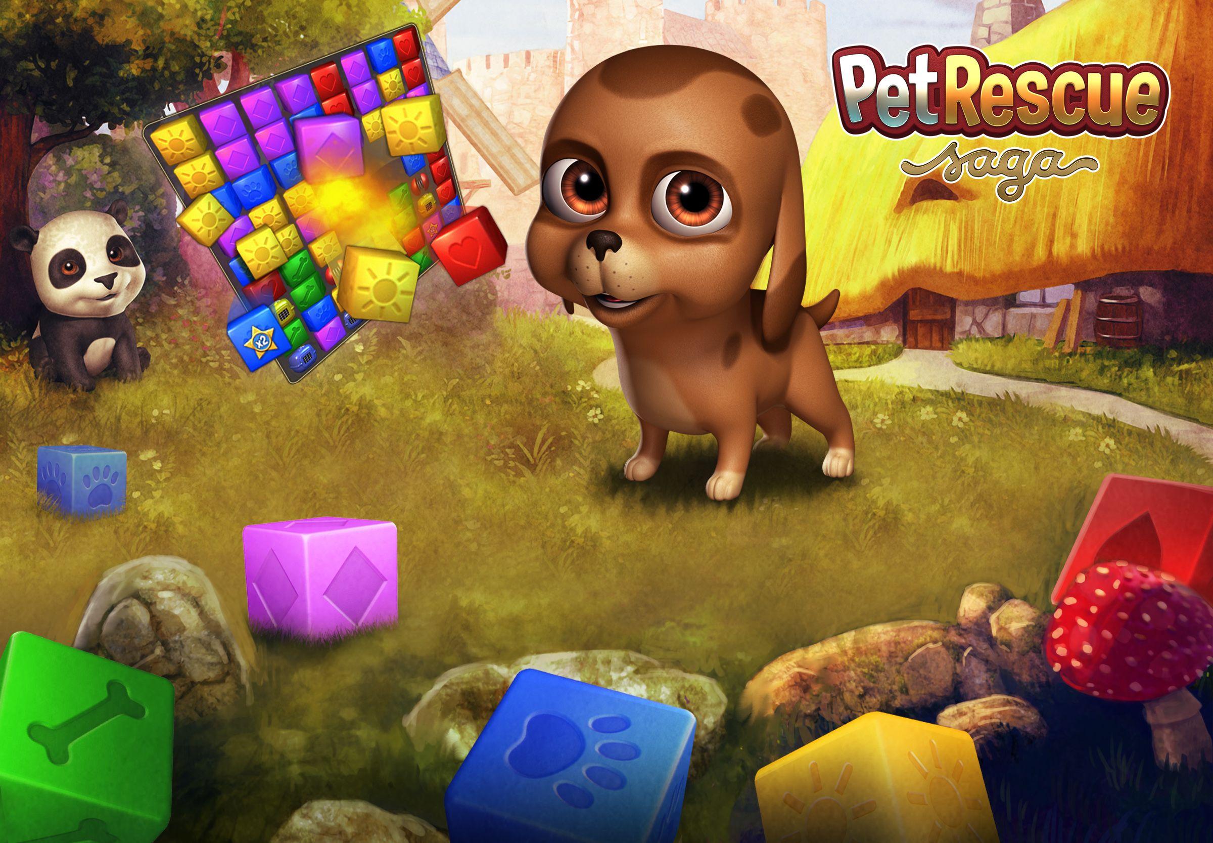 Pet Rescue Saga Kings game, Games, Pets