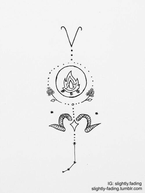 Pin de GABY JUAREZ en tattoo Pinterest Tatuajes Signos y Aries