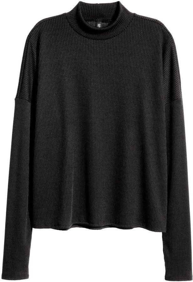 H&M - Ribbed Mock-turtleneck Sweater - White - Ladies   fashion ...
