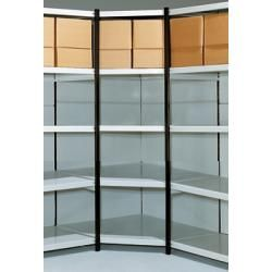 Photo of steel shelving