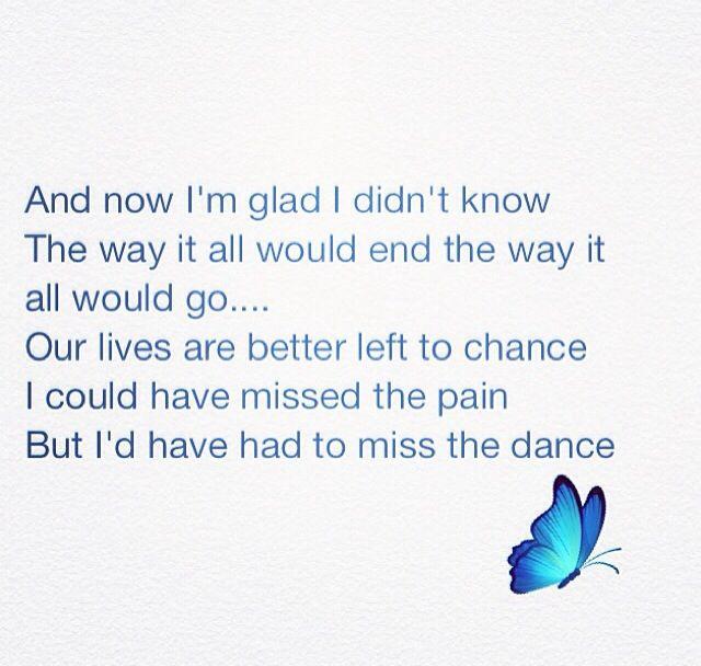 My Garth Brooks Tattoo Lyrics From The Dance I Love: Garth Brooks Lyrics The Dance