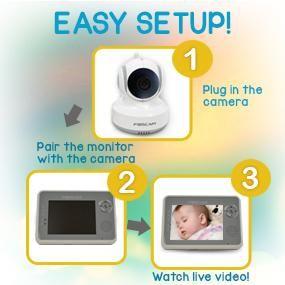 Easy Setup FOSCAM FBM3501 DIGITAL VIDEO BABY MONITOR | Baby