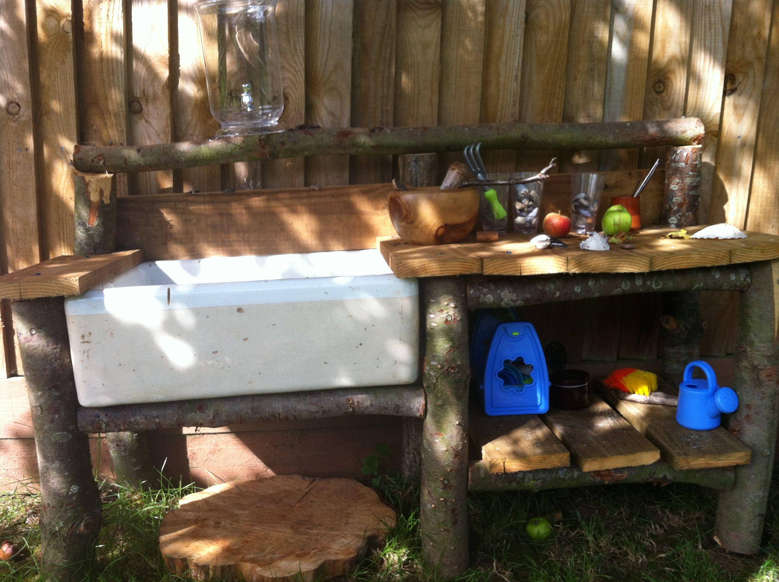 Mud kitchen upcycled pallet mud kitchen pallet kitchen counter with - Mud Kitchen Belfast Sink