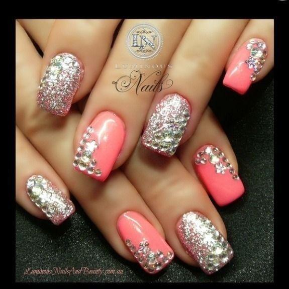 imagenes de uñas decoradas con piedras , Buscar con Google