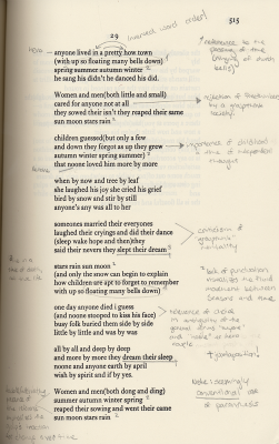 "an analysis of love in the poem anyone lived in a pretty how town The poem ""anyone lived in a pretty how town"" by ee cummings talks about the cycle of life and the importance of structure, symbolism, and language of the poem for instance, the poem has nine stanzas, which has a rhyming pattern of aabc."
