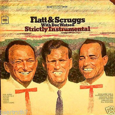 "LESTER FLAT & EARL SCRUGGS w/ DOCWATSON Strictly INSTRUMENTAL 12"" LP VG+/VG++"