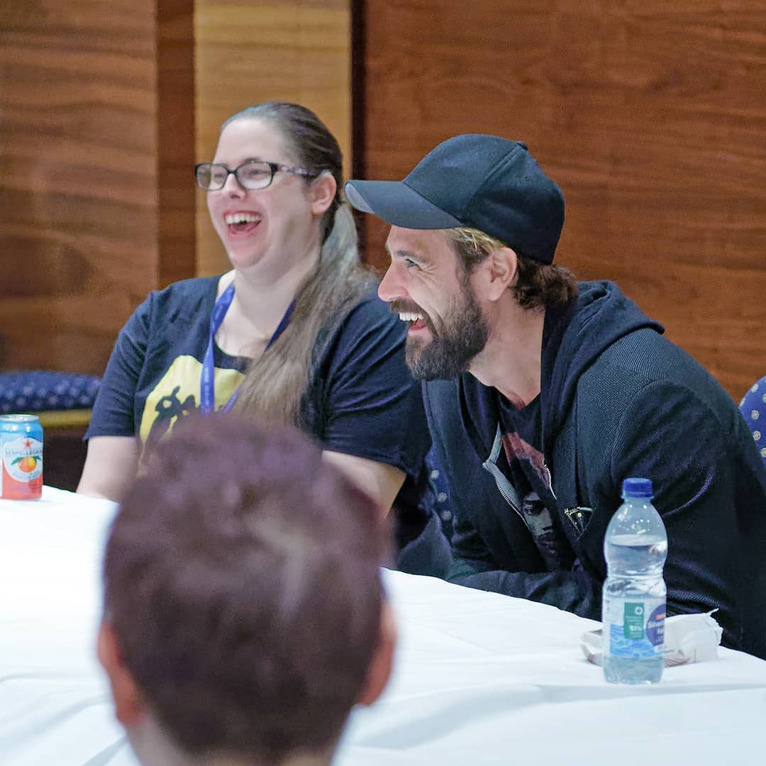 Starfury Events On Instagram Matt Ryan Enjoying A Laugh While At A Fan Meet At Starfury Ultimates 2019 Starfury Starfuryevents Ultim Matt Ryan Laugh Matt