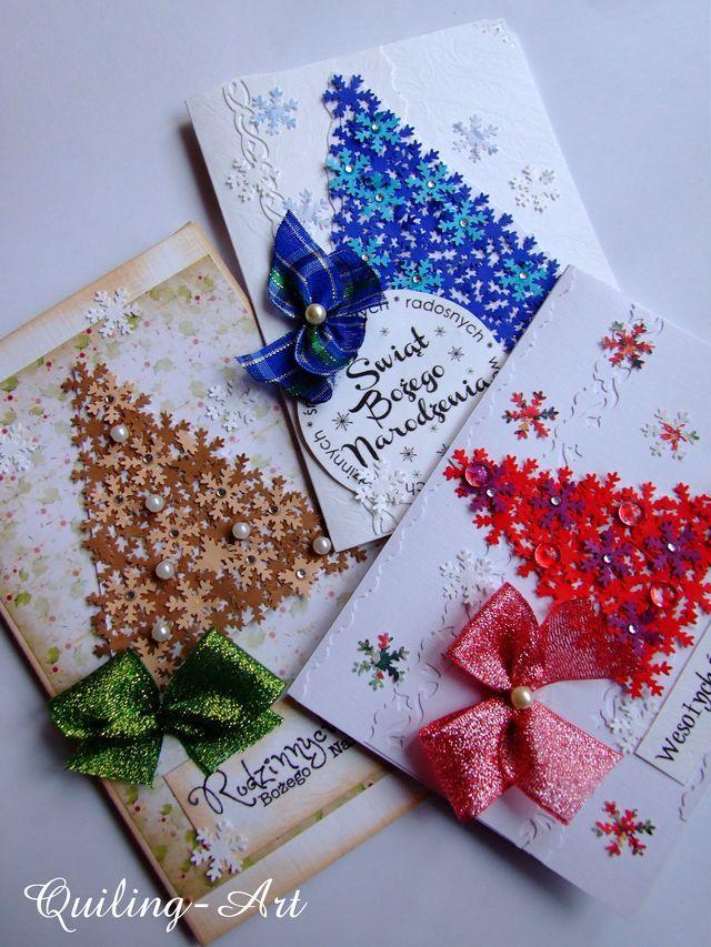 Wspaniały kartki-Bozonarodzeniowe-recznie-robione - Quilling-Art | Kartki ZZ19