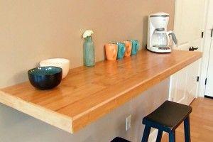 Kitchen Breakfast Bar Against Wall Diy Kitchen Table Bar Table