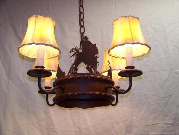 western style light fixtures – Cowboy Chandelier