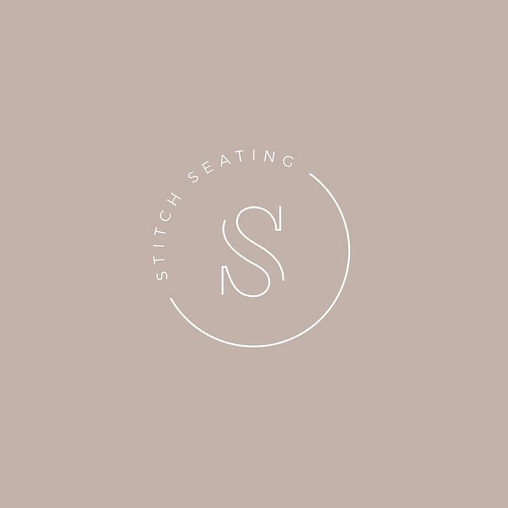 Stitch Seating Logo Design - Simply Whyte Design #logoinspiration #logodesign #lushlogos #logodesignideas