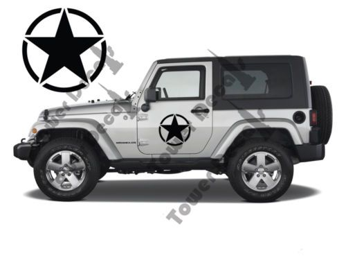 Jeep Willys Army Stars 2 16 Full Doors Wheel Cover Vinyl Decal Army Stars 2 10 Half Doors Vinyl Decals For The Je Jeep Wrangler Jeep Wrangler Rubicon Jeep