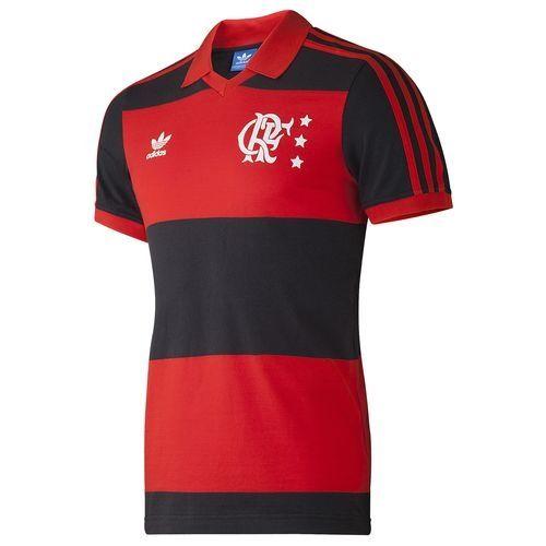 f881bca793 Flamengo - adidas Originals Modelo rubro-negro inspirado no uniforme  Campeão da Libertadores e da Copa Internacional em 1981. Camisa referente  ao maior ...