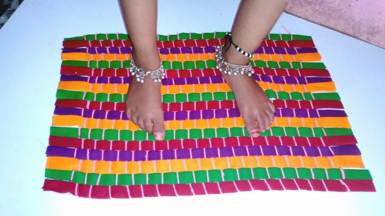 How To Make Rug Carpet Table Mat Door Using Old