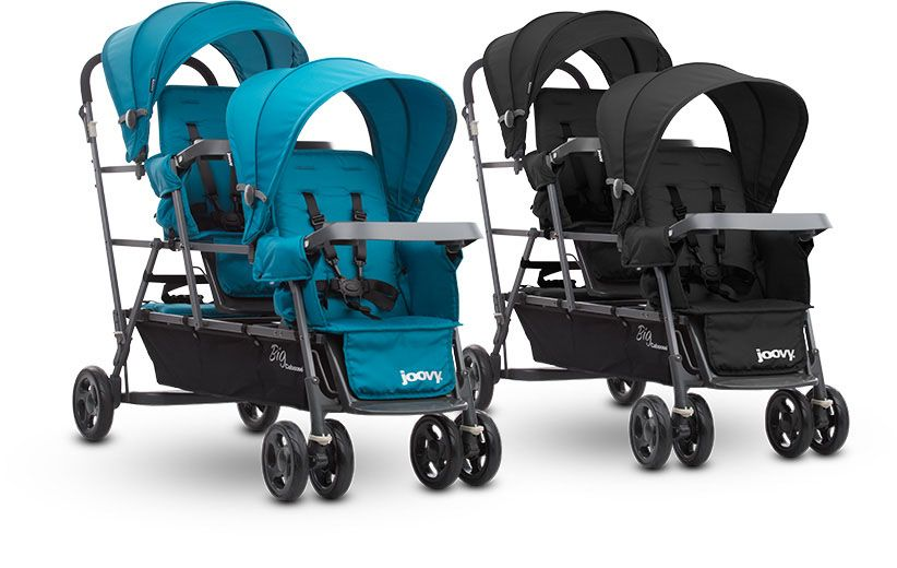 Big Caboose Sit and Stand Triple Stroller Kids storage