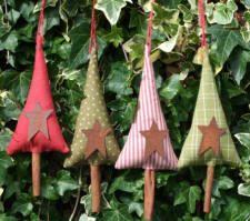 fabric tree decorations