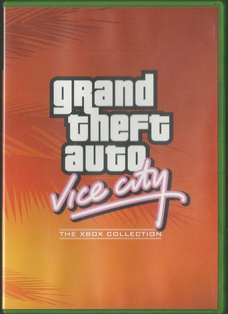 Xbox grand theft auto vice city retro gta grand theft