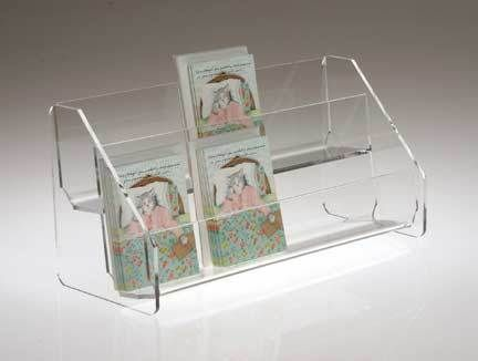 Heavy Clear Acrylic Rack With Two Shelves For Countertop